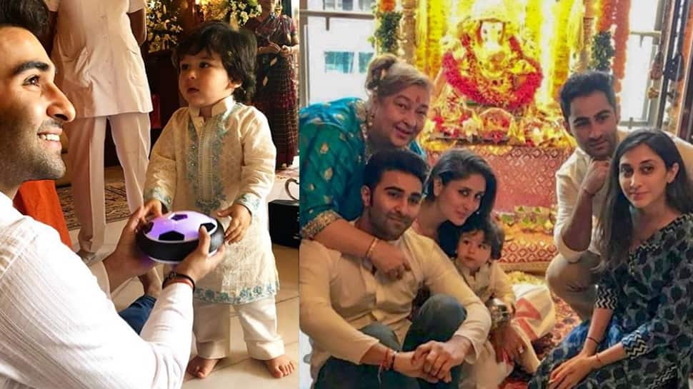 Taimur Ali Khan celebrating Ganpati festival with mommy Kareena and family is the cutest thing on internet today—Watch