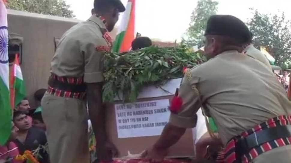 Thousands bid tearful adieu to BSF jawan killed by Pakistani forces along IB near Jammu