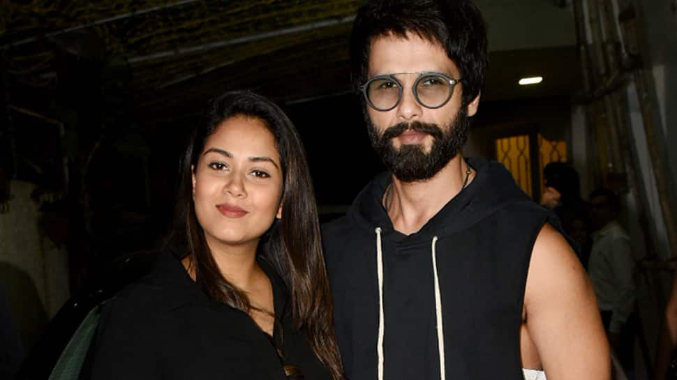 Shahid Kapoor and Mira Rajput twin in black as they step out for the first time after son Zain Kapoor's birth—Pics