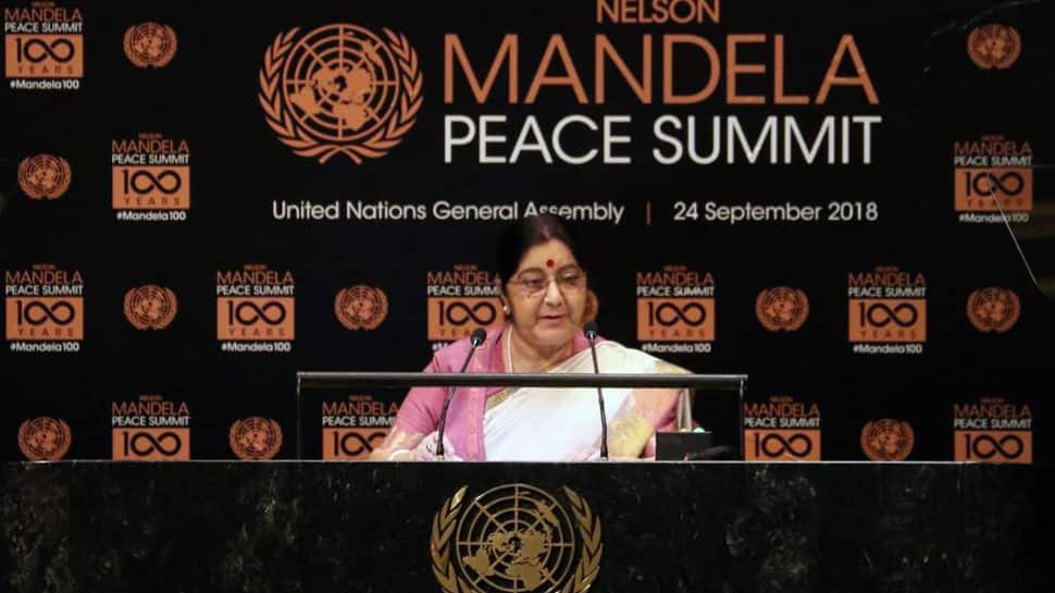 India considers Nelson Mandela as its own, cherishes special relationship with Africa: Sushma Swaraj at UNGA