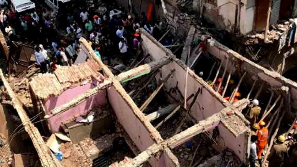 Five-storey building collapses in Delhi, kills four children, two women