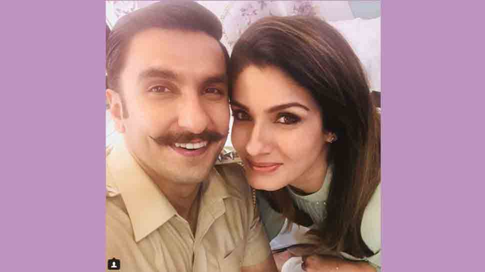 Ranveer Singh bumps into 90s diva Raveena Tandon, gets tagged as 'Spiderman'