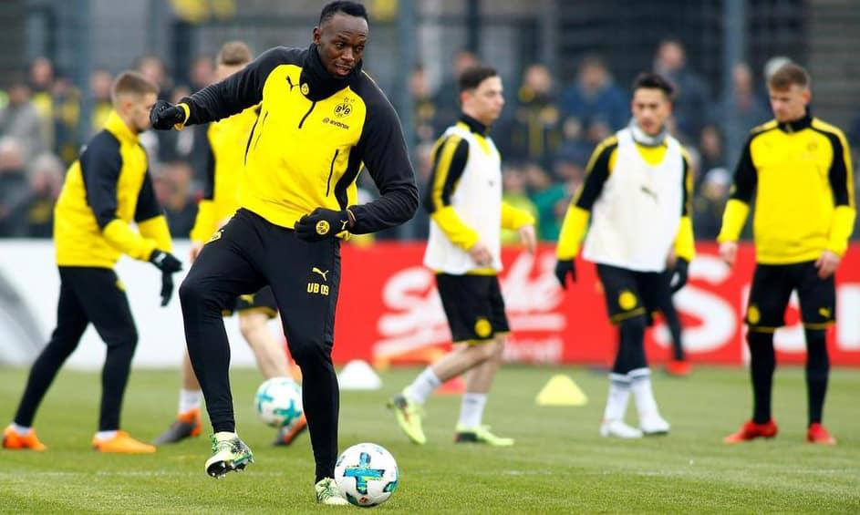 Legendary Jamaican sprinter Usain Bolt feels he is ''improving'' in football