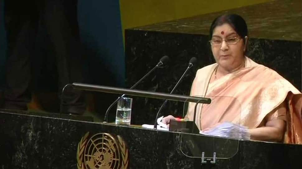 Pakistan supports terrorism, refuses to see blood of innocents: Sushma Swaraj at UNGA