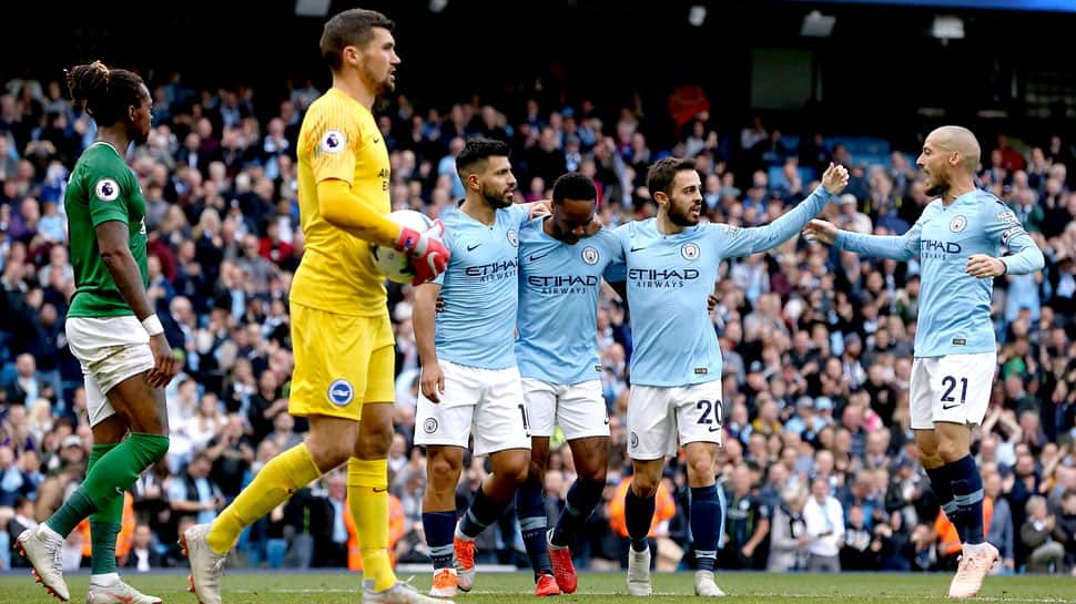 Manchester City cruise as Aguero and Sterling strike in 2-1 win over Brighton