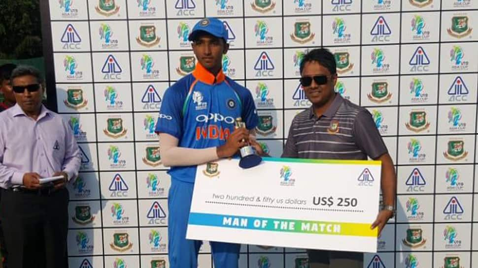 U19 Asia Cup 2018: India register thumping 227-run win over United Arab Emirates