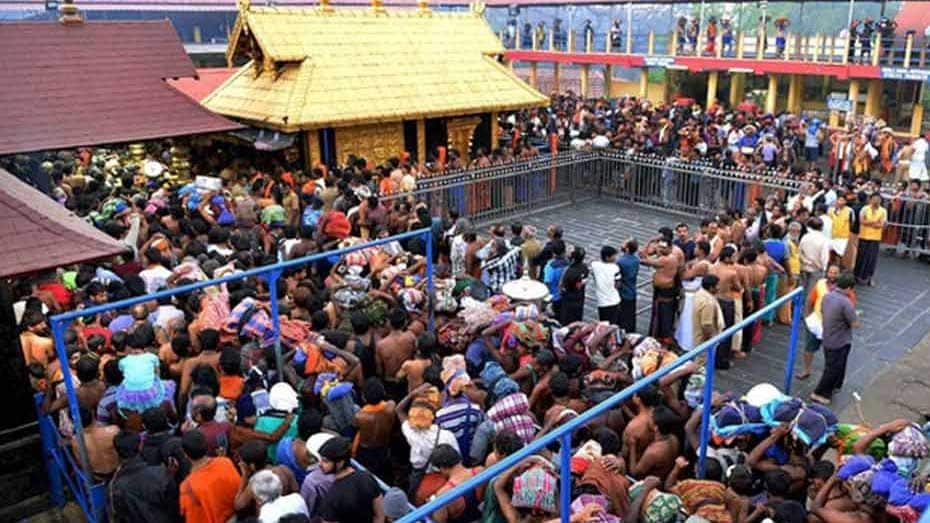 Hundreds of Ayyappa devotees block roads against SC verdict on Sabarimala, woman tries to immolate self
