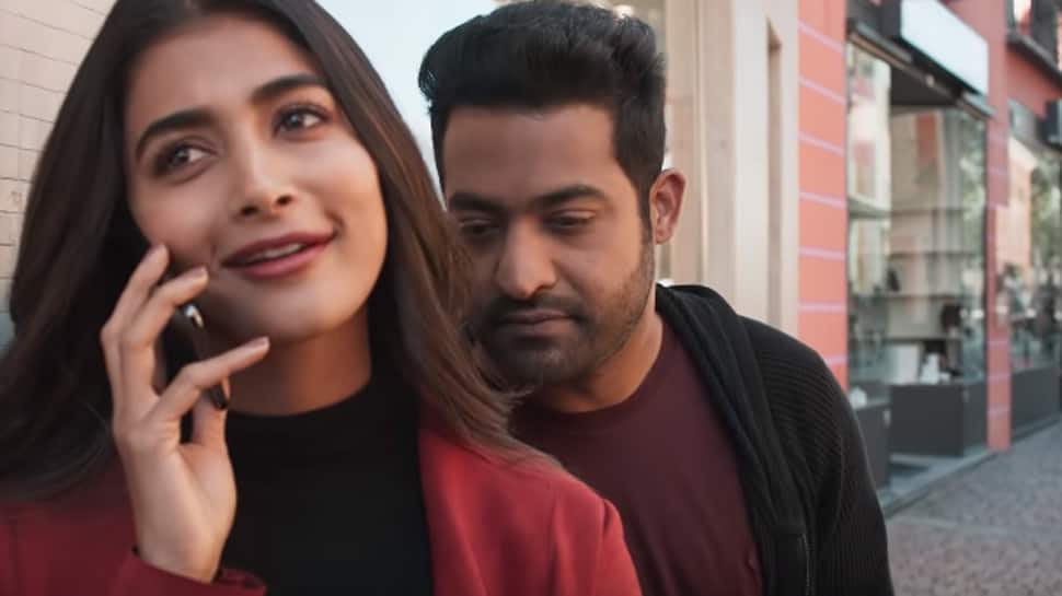 Anaganaganaga song promo: Jr NTR's dance moves and chemistry with Pooja Hegde will impress you—Watch