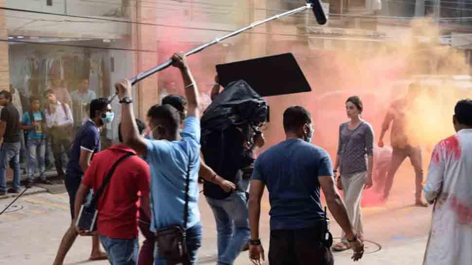 Spanish actress Lorena Franco shoots in Delhi for 'Paharganj'