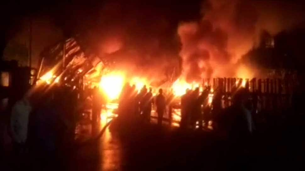 Rubber factory gutted in massive fire in Maharashtra's Thane