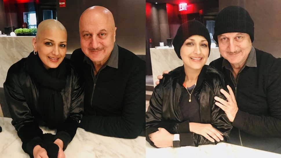 Anupam meets 'inspirational, courageous' Sonali Bendre