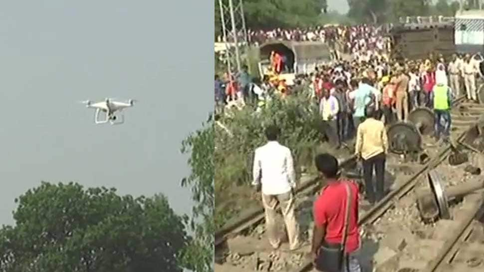 New Farakka Express derails near Raebareli: Drones being used to monitor rescue operation