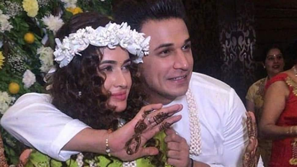 Yuvika Chaudhary and Prince Narula dancing to Punjabi dhol at their Mehendi function is too cute—Watch