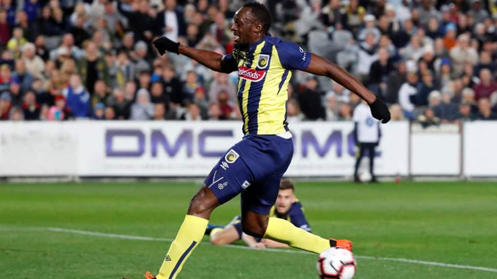 Football: Usain Bolt scores two goals in his first start for the Central Coast Mariners