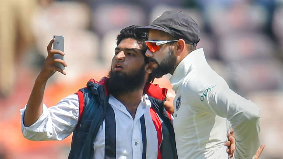 Man who tried to hug, click selfie with Virat Kohli booked for trespassing