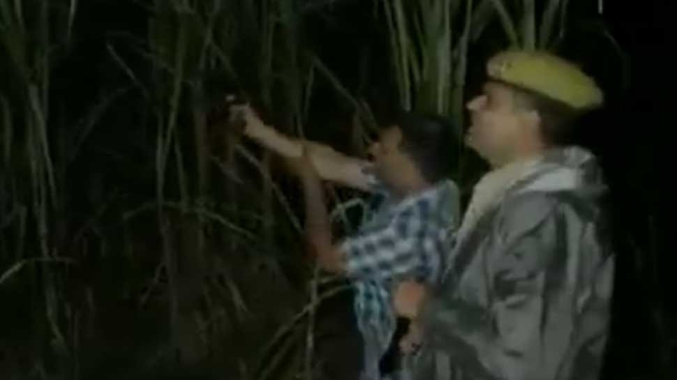 UP cops shout 'thain, thain' to scare criminals in UP's Sambhal - WATCH