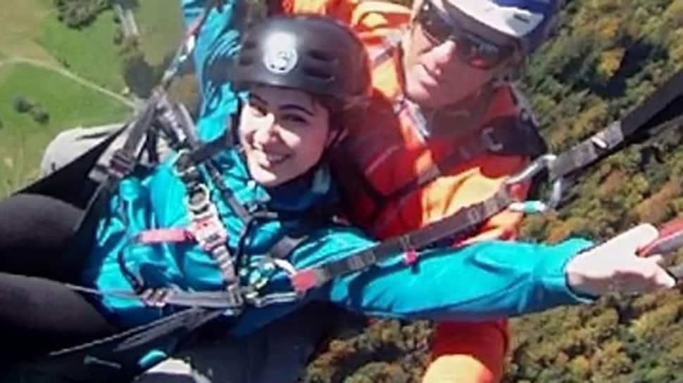 Sara Ali Khan's paragliding video will tempt you to plan your next vacation ASAP - Watch