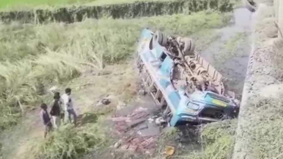 Six dead, 20 injured as bus falls into canal in Hooghly in West Bengal