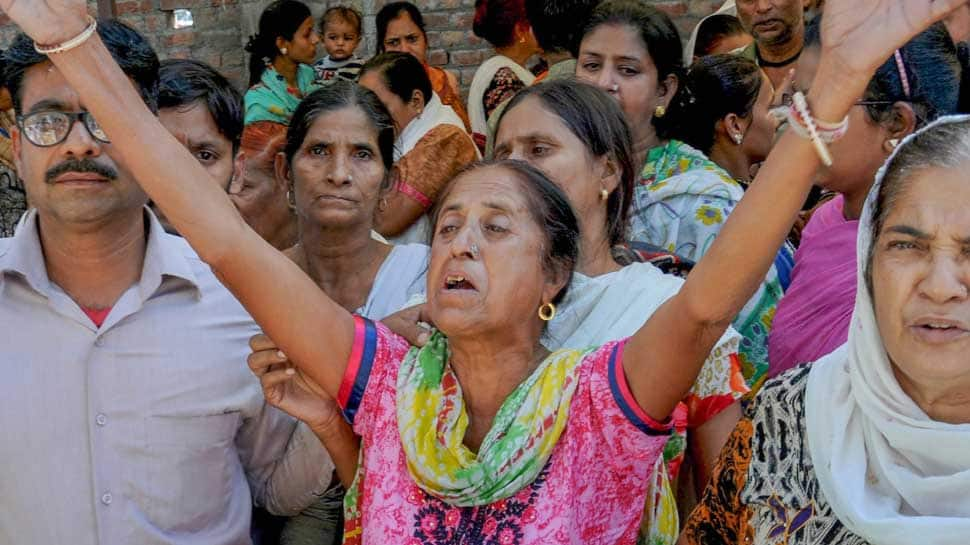 Amid blame game over Amritsar train tragedy, locals continue to protest, demand compensation for victims