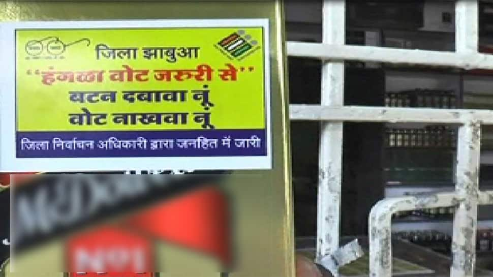 In MP's Jhabhua, officials use stickers on liquor bottles for voter awareness, later roll back plan