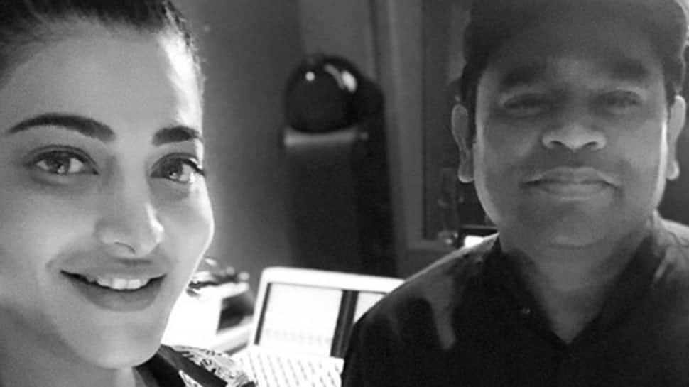 Shruti Haasan meets AR Rahman at his LA studio