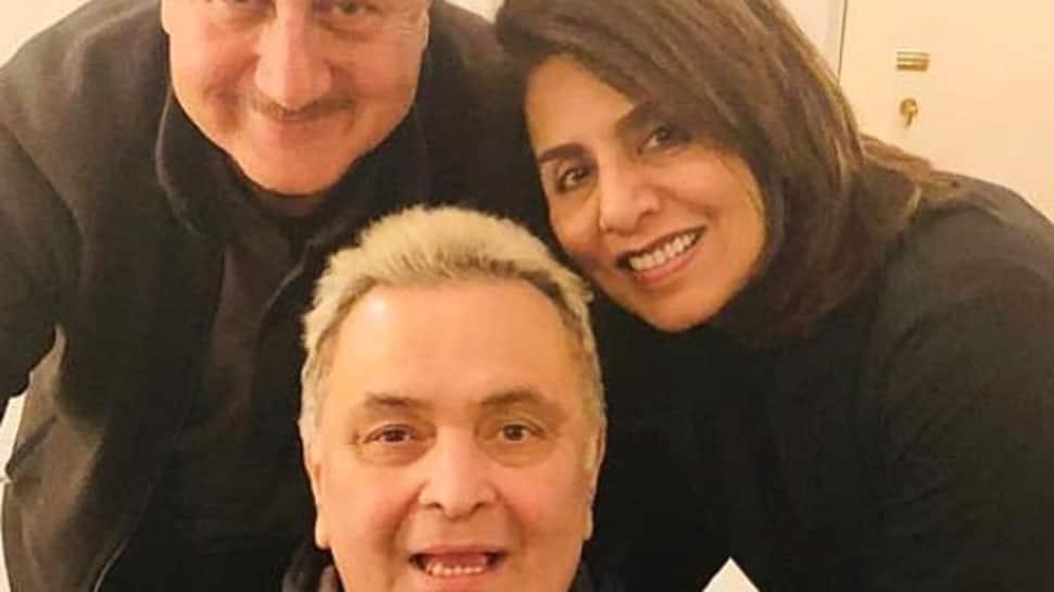 Anupam Kher meets Rishi Kapoor in NYC, Neetu Kapoor shares pic