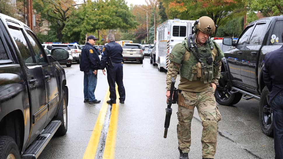 Gunman kills at least 8 at Pittsburgh synagogue in US, yells 'all Jews must die'