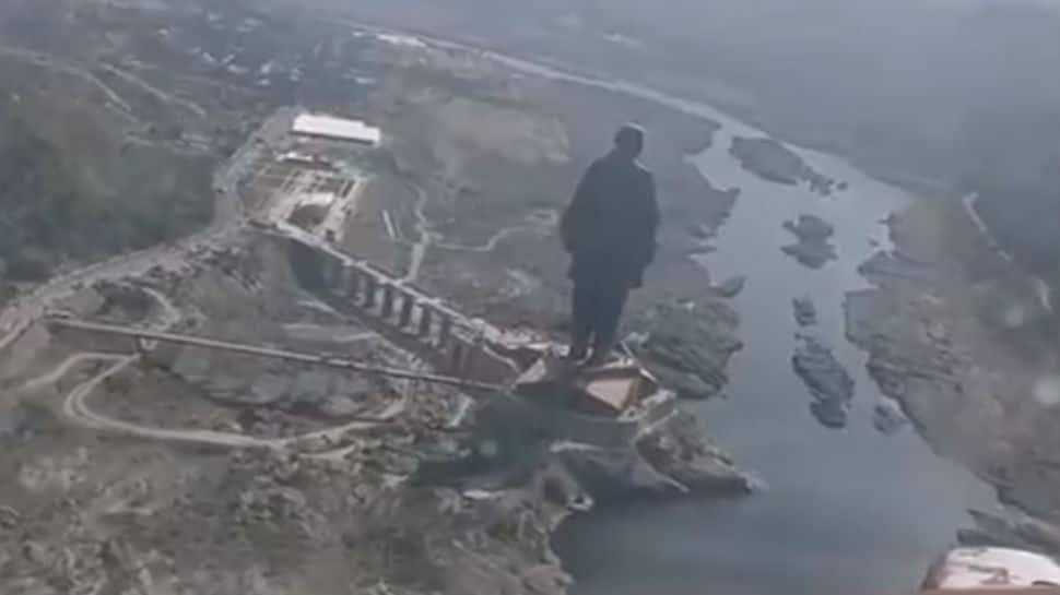 Watch: Spectacular views of world's tallest statue from IAF planes