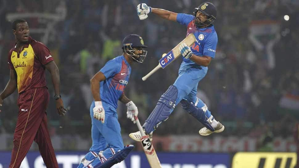 Rohit Sharma becomes first batsman with 4 centuries in T20Is