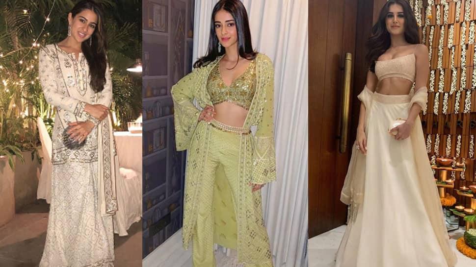 Sara Ali Khan, Ananya Panday and Tara Sutaria rock the ethnic look—Pics