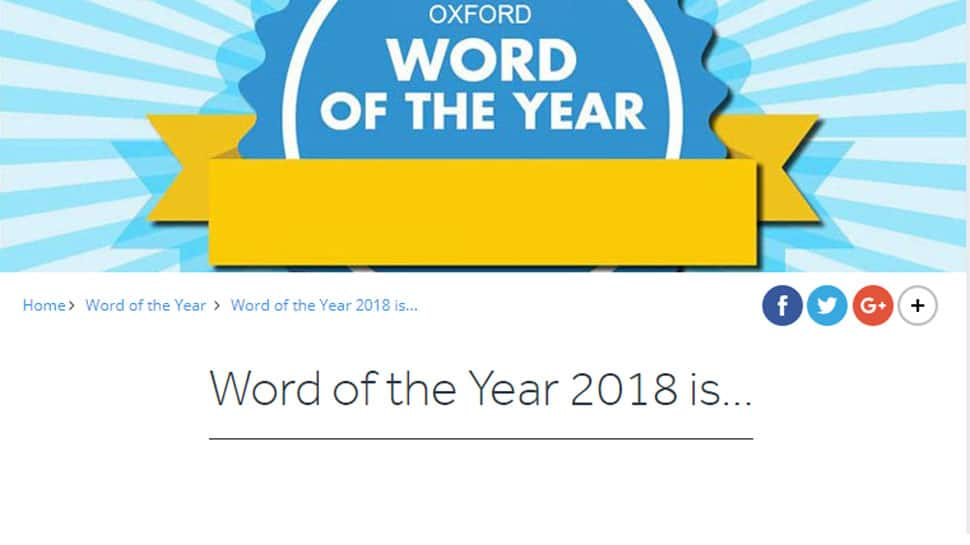 And the Word of the Year 2018 is...