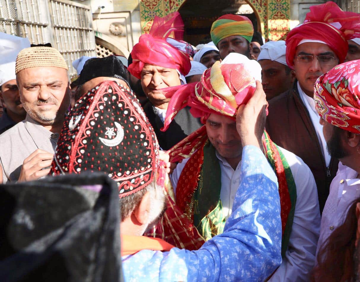 Rahul Gandhi at Ajmer Sharif