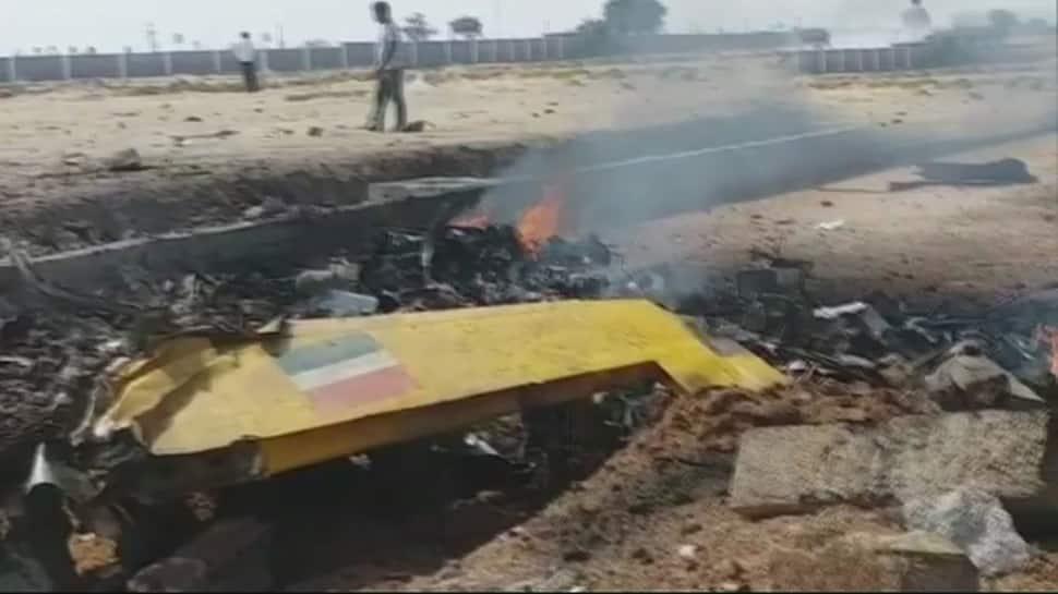 IAF trainee aircraft crashes in Telangana's Yadadri Bhuvanagiri district, pilot injured