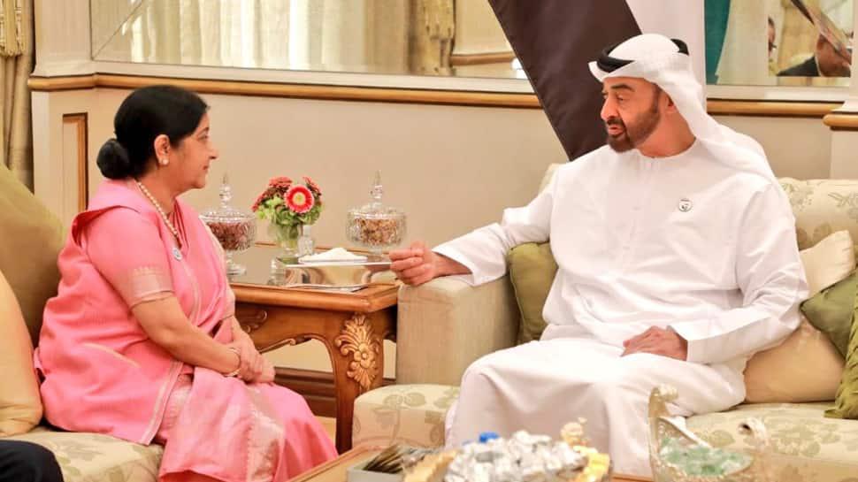 India, UAE ink currency swap agreement during Sushma Swaraj's Abu Dhabi visit