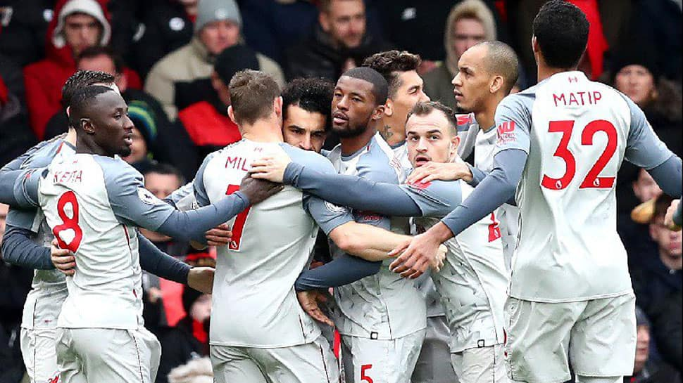 EPL: Superb Salah treble at Bournemouth sends Liverpool top