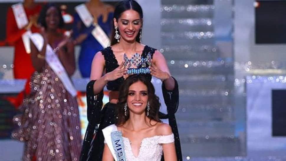 Manushi Chhillar passes the 'Miss World' crown to her successor Vanessa Ponce de Leon—Pics