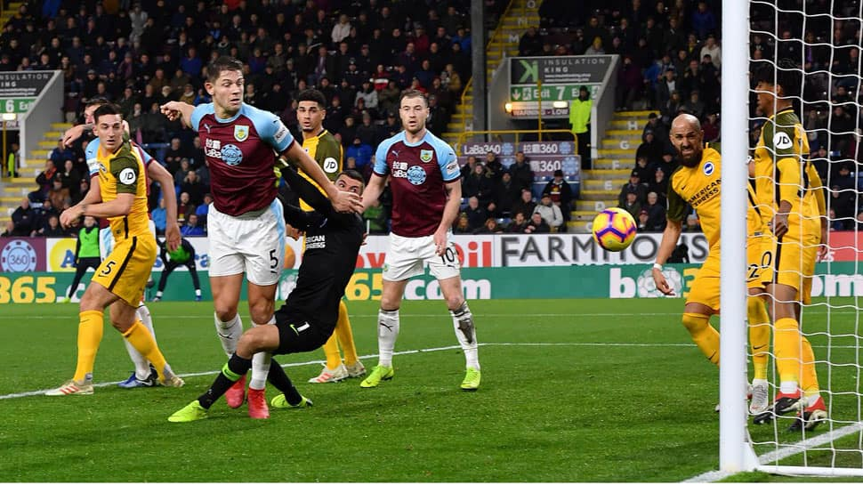 EPL: Burnley out of relegation zone with scruffy 1-0 win over Brighton & Hove Albion
