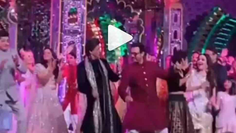 Shah Rukh Khan and Aamir Khan perform at Isha Ambani's pre-wedding function, video goes viral-Watch