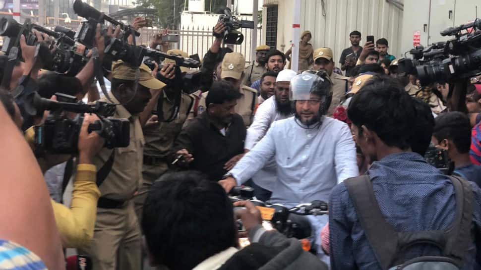 Went on motorcycle to show how peaceful Hyderabad is: Asaduddin Owaisi