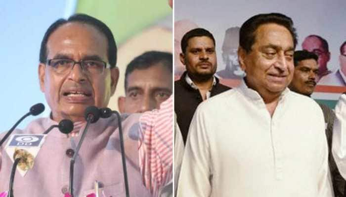 Close fight in Madhya Pradesh; Congress leads in 110, BJP in 108