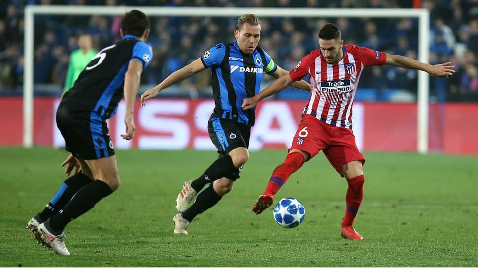 UEFA Champions League: Atletico Madrid draw in Bruges to give Borussia Dortmund top spot in group