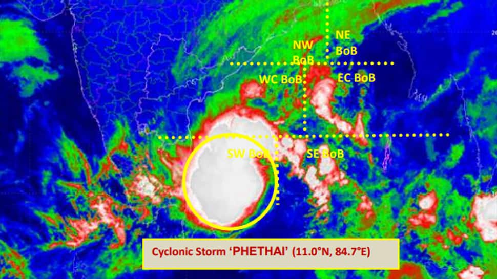 Cyclonic storm Phethai to intensify further on December 17, heavy rain likely in Odisha, Andhra on Sunday