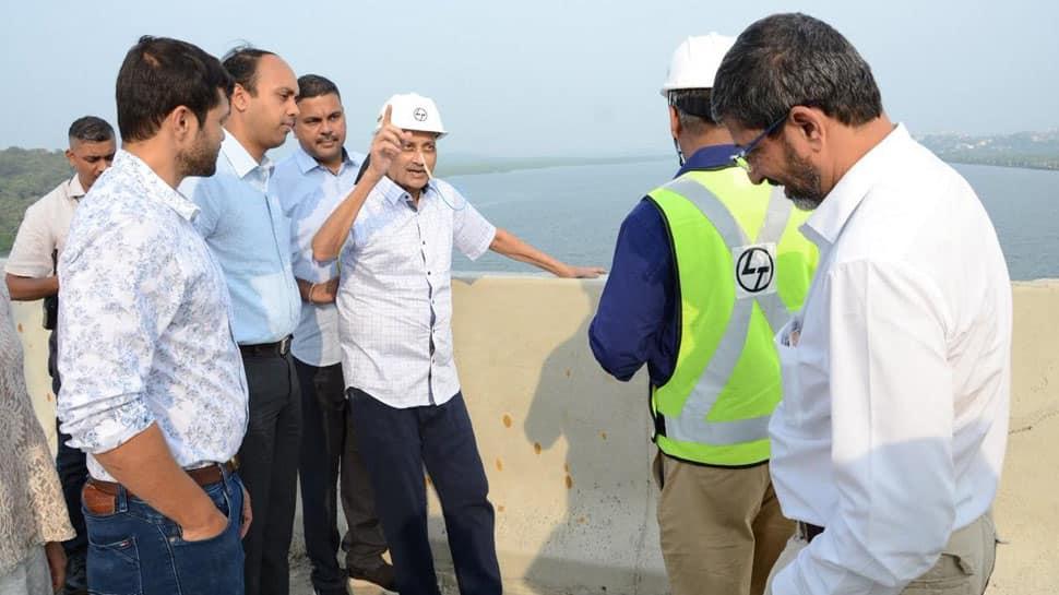 Goa: Ailing CM Manohar Parrikar makes rare public appearance, inspects 2 bridges