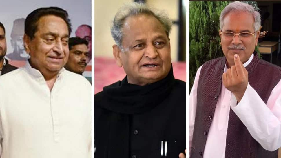 Kamal Nath, Ashok Gehlot, Bhupesh Baghel set to be sworn in as Chief Ministers of Madhya Pradesh, Rajasthan and Chhattisgarh