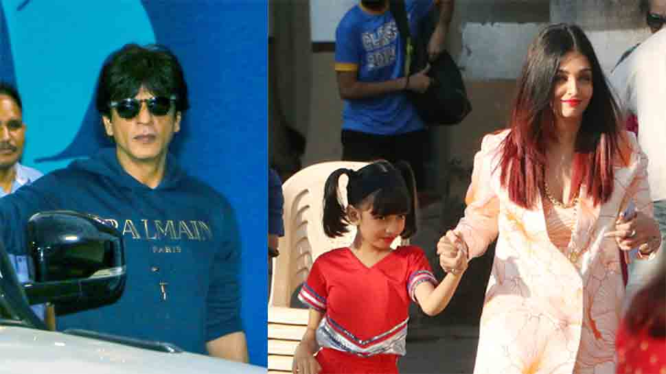 Shah Rukh Khan-Gauri Khan, Aishwarya-Abhishek Bachchan, Karisma attend their child's school annual function — Pics