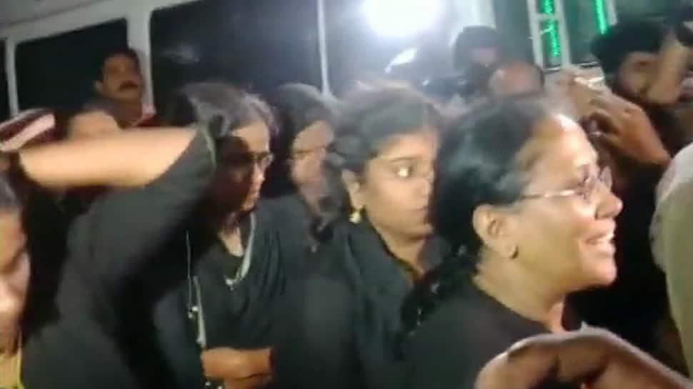 Tension in Sabarimala as 11 women try to trek Lord Ayyappa shrine, security increased