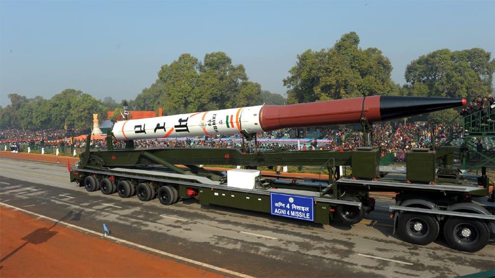 Nuclear strategic ballistic missile Agni-IV successfully test fired off Odisha coast
