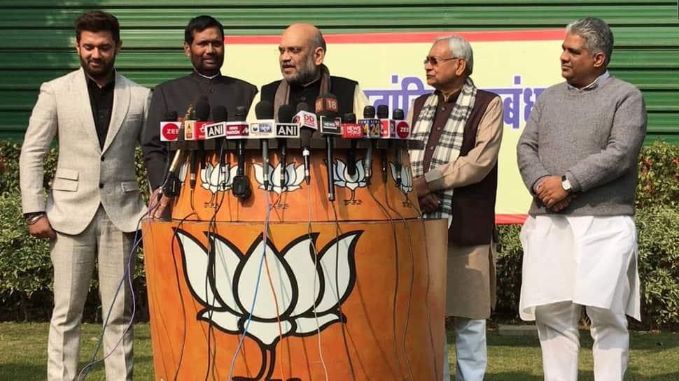 NDA seat sharing formula in Bihar for 2019 Lok Sabha polls: BJP, JDU to fight on 17 seats each, LJP gets 6
