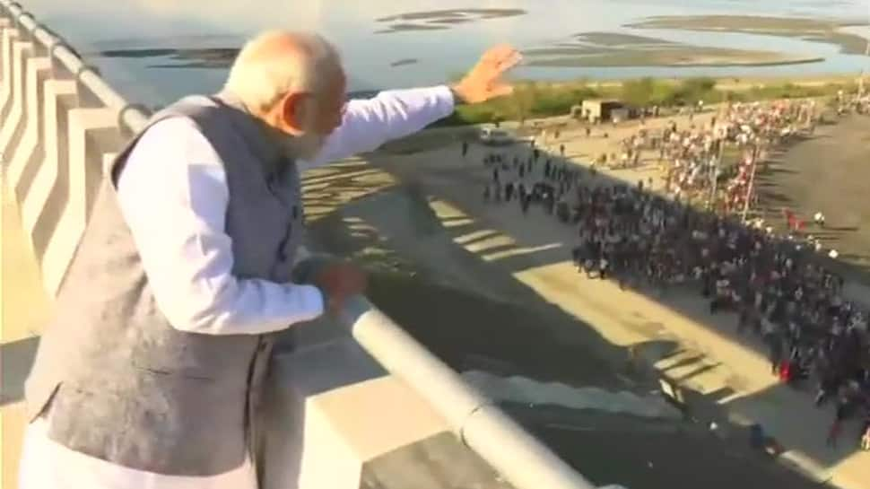 PM Modi inaugurates India's longest rail-road bridge Bogibeel Bridge on Bramhaputra river