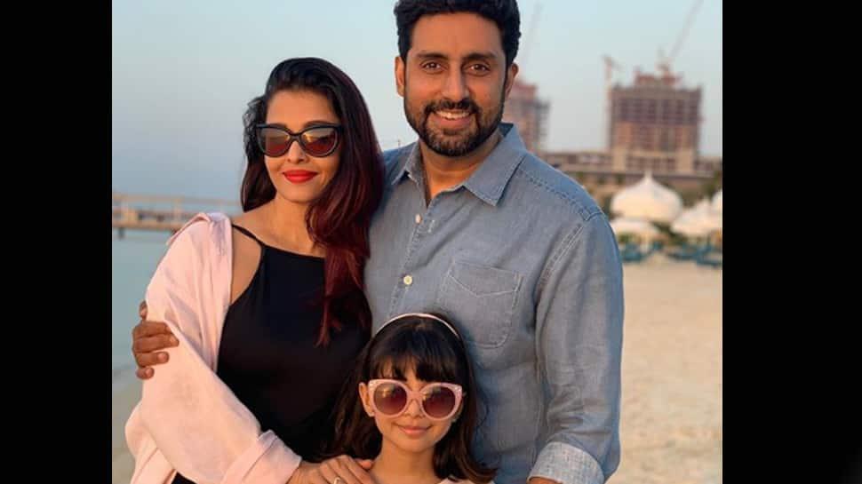 Abhishek shares an endearing pic with Aishwarya and Aaradhya